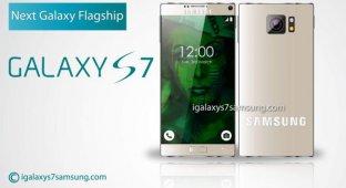 Концепт Galaxy S7 с отсутствующими рамками экрана