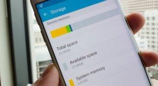 Samsung Galaxy S6 и Galaxy S6 Edge в версиях с 32Гб памяти предлагают пользователю 23Гб