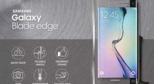 Samsung Galaxy Blade Edge – необычный нож-смартфон для необычных людей