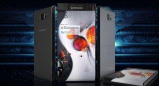 Концепт Samsung Galaxy Round 2 SGH-930 с изогнутым экраном в видео