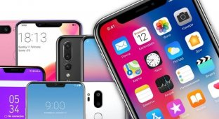 Как Android-производители копируют вырез iPhone X — или пытаются придумать что-то свое