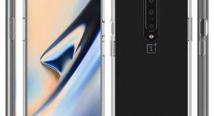 OnePlus 7 в прозрачном кейсе